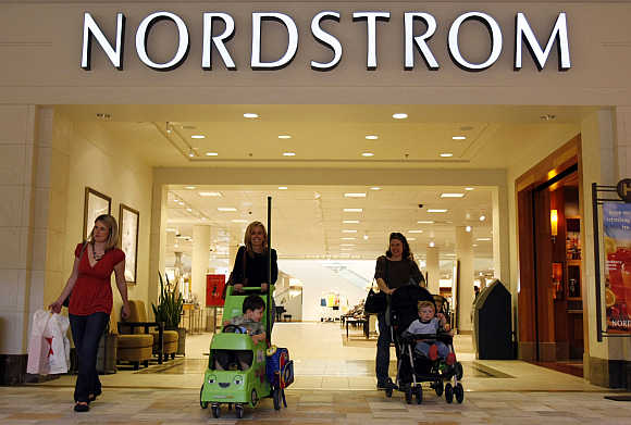 A Nordstrom store at a mall in Denver, United States.