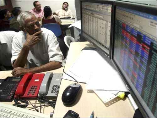 Sensex plunges nearly 300 points; rupee weighs