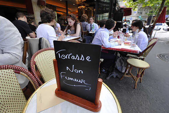 A cafe in Paris, France.
