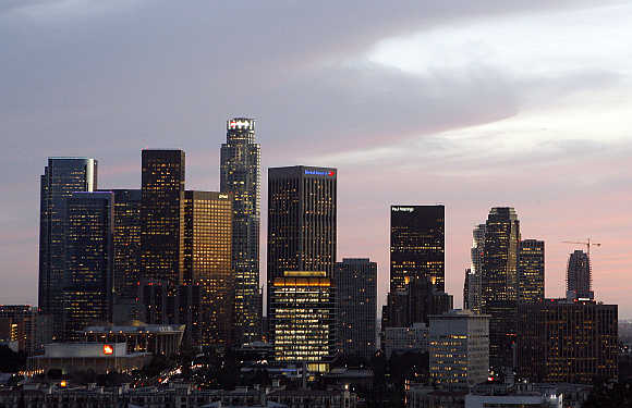 A view of Los Angeles's downtown area.