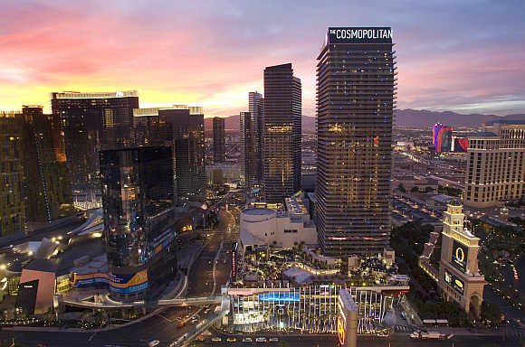 A view of the Cosmopolitan in Las Vegas, Nevada, United States.