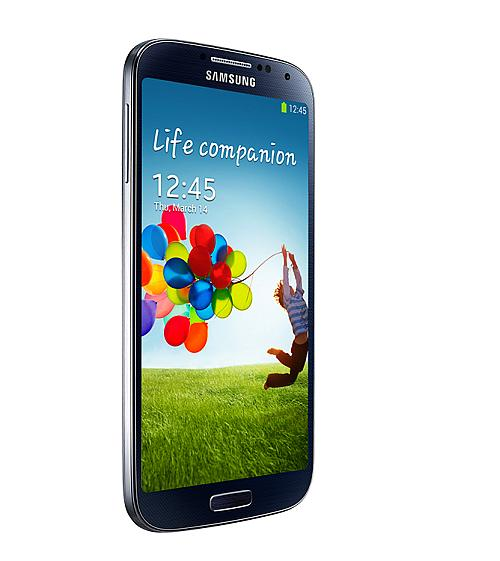 Samsung Electronics' Galaxy S4. The phone features a five-inch full HD super AMOLED touchscreen, 1.9 GHz quad-core processor.