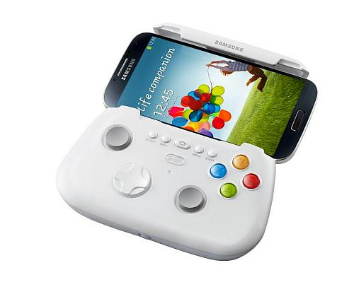 Samsung Electronic will also launch several accessories with Galaxy S4 including a Game Pad in the picture.
