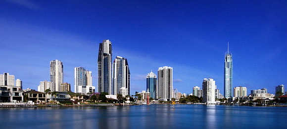 A view of Gold Coast, Australia.
