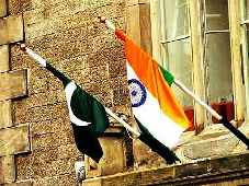 Pakistani and Indian flag