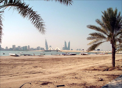 Coastal area in Bahrain.