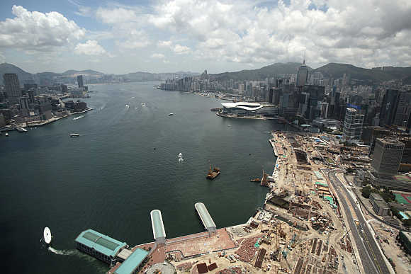 A view of Hong Kong's financial district.