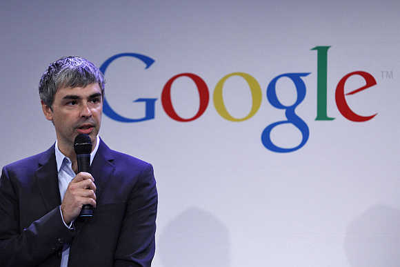 Larry Page at Google's headquarters in New York.