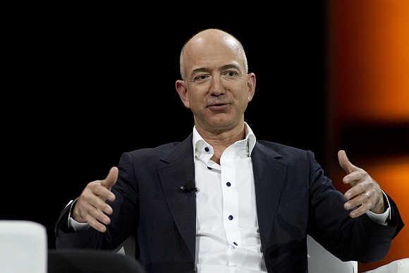 Jeff Bezos in Las Vegas, Nevada.