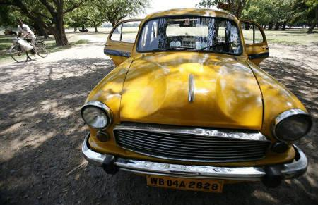 File photo of an Ambassador car, manufactured by Hindustan Motors, in Kolkata.