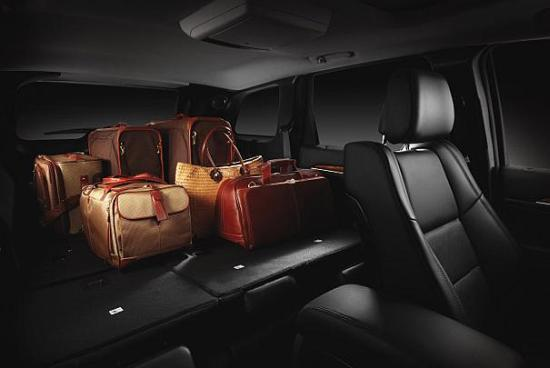 Jeep Grand Cherokee cargo storage.