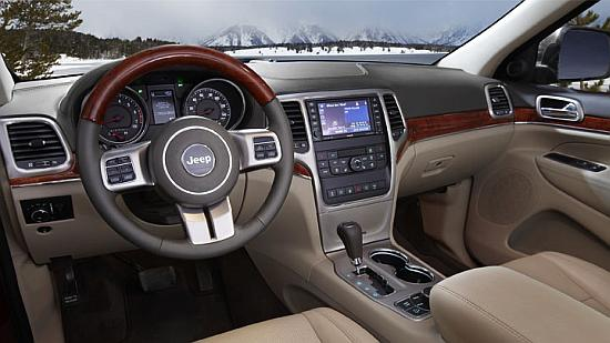Jeep Grand Cherokee interior.