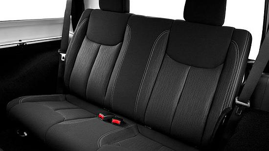 Jeep Wrangler rear seats.