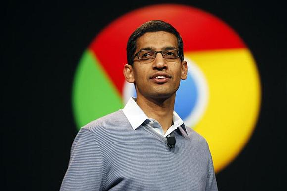 Sundar Pichai at Google I/O Conference.