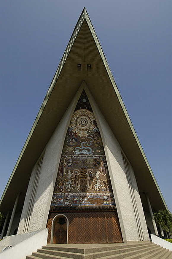 A view of the Parliament Building in Port Moresby, Papua New Guinea.