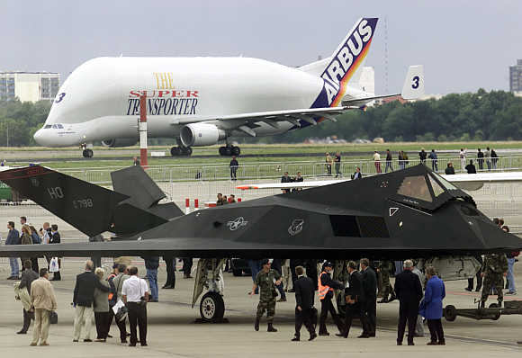 A view of Beluga at Berlin's Schoenefeld airport in Germany.