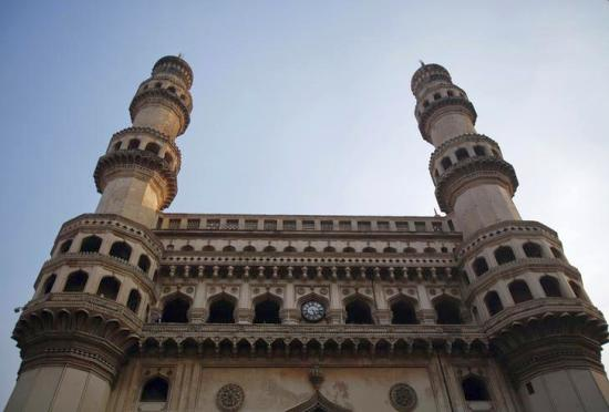The 16th century monument the Charminar, named for its four minarets, is pictured in the old city in central Hyderabad.