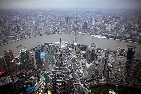 A view of Shanghai, China.