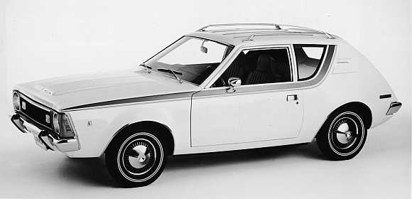 Front view of the four-passenger 1970 AMC Gremlin in Detroit, Michigan.