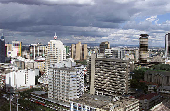 An aerial view of Kenya's capital city Nairobi.