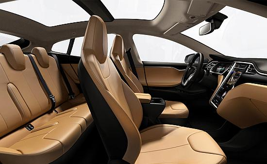 Interior of Tesla Model S.