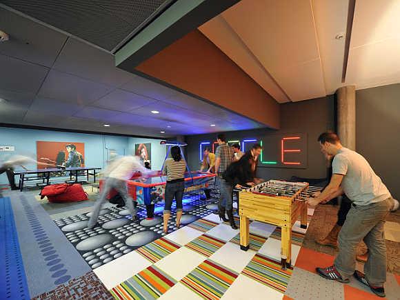 A view of Google office in Zurich, Switzerland.