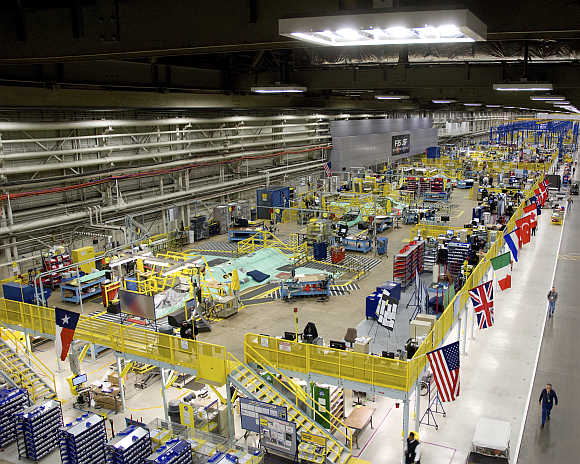 A view of Lockheed Martin's plant in Fort Worth, Texas.