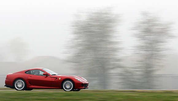 Ferrari 599 GTB model in Fiorano, northern Italy.
