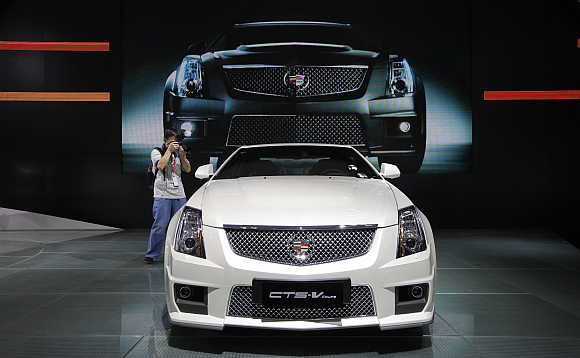 Cadillac CTS-V Coupe in Guangzhou, China.