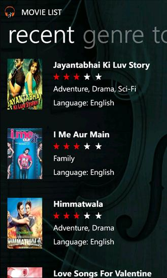 Screenshot of Bollywood Music.