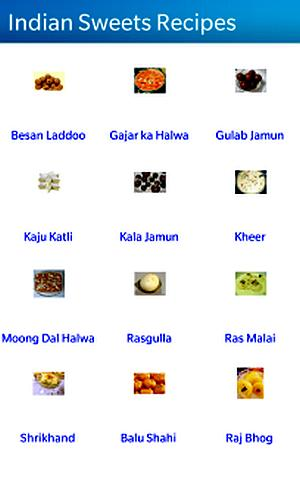 Screenshot of Indian Sweets Recipes.