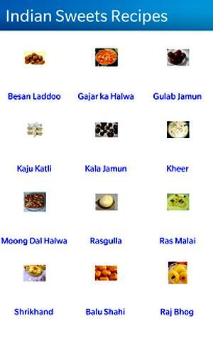 Screenshot of Indian Sweets Recipes.