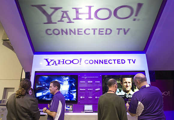 Yahoo! Connected TV at the International Consumer Electronics Show in Las Vegas, Nevada.