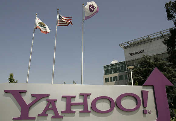 Headquarters of Yahoo! in Sunnyvale, California.