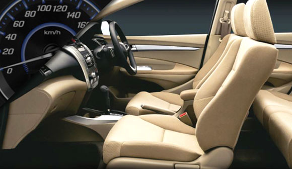 Interior of Honda City.