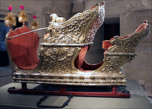 Traditional royal transport.