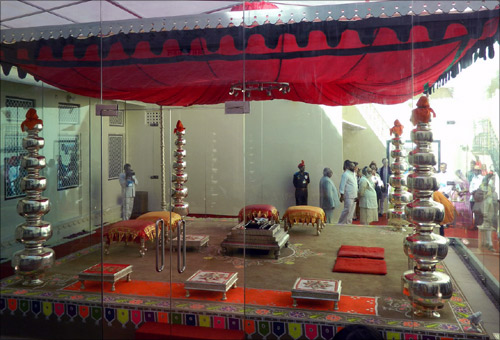 Wedding mandap.