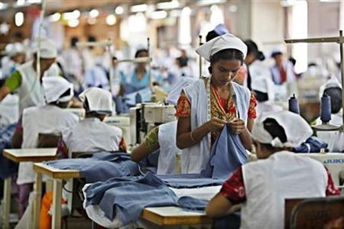 Women work in a garment factory in Gazipur, Bangladesh.