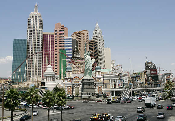 A view of the New York casino in Las Vegas, Nevada, United States.