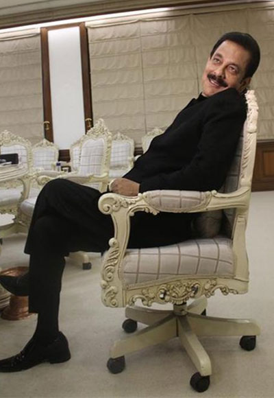 Sahara Group chairman Subrata Roy in his sprawling office.