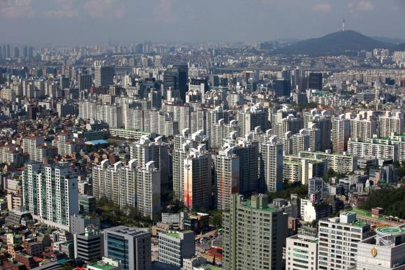 Part of Gangnam area is seen in Seoul.