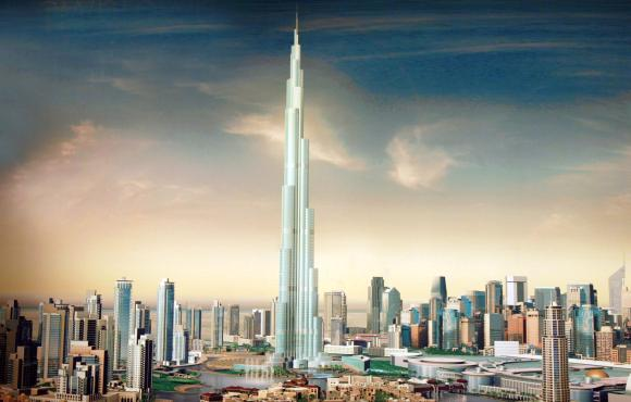 An artist's impression of one of the world's tallest hotels in Dubai, United Arab Emirates.