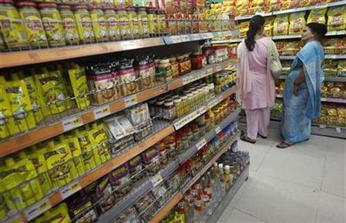 Customers shop at the Big Bazaar retail store in Mumbai.