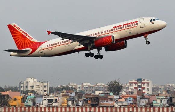 An Air India passenger plane takes off from Sardar Vallabhbhai Patel International Airport in Ahmedabad.