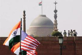 Indian and American flag