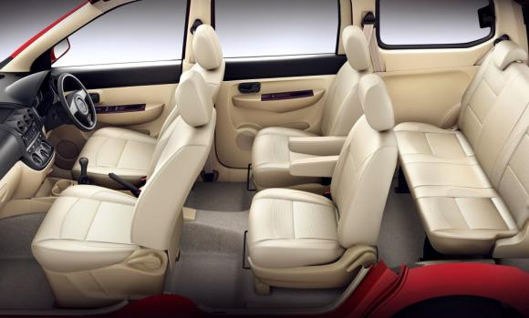 Spacious interior of Chevrolet Enjoy.