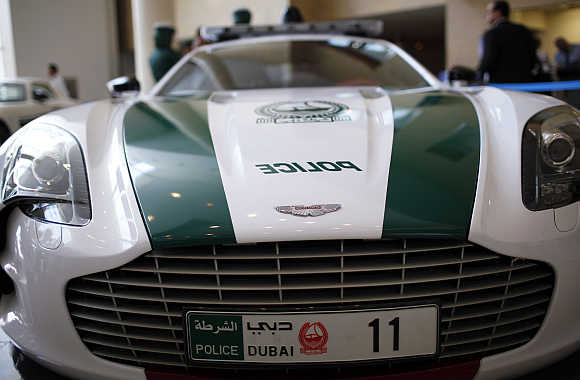 An Aston Martin used by Dubai police.