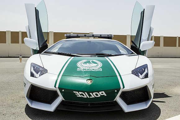 Lamborghini Aventador used by Dubai police.