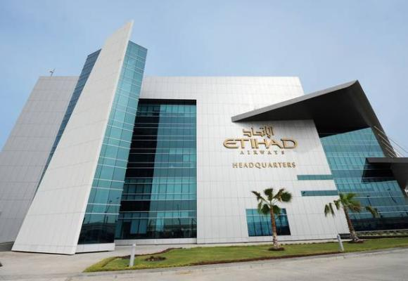 The Etihad Airways headquarters in Abu Dhabi.