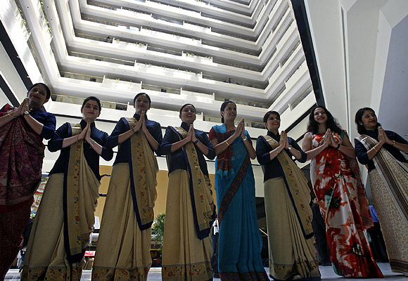 Employees of Oberoi Hotel.